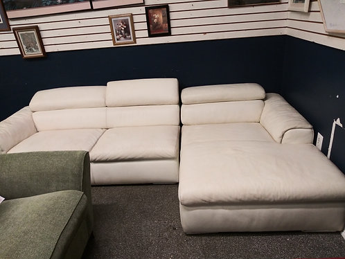 leather withe sectional sofa