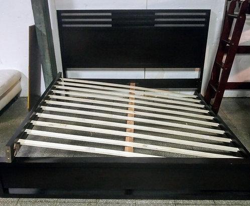 Very modern queen sized platform bed