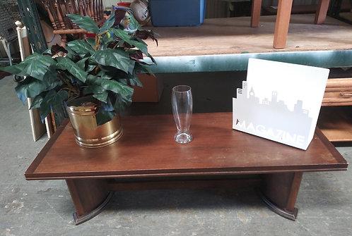 Low modern wood coffee table