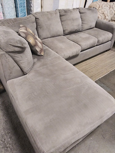 Immaculate Gray L Shaped Sectional
