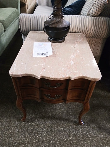 High end marble top side table