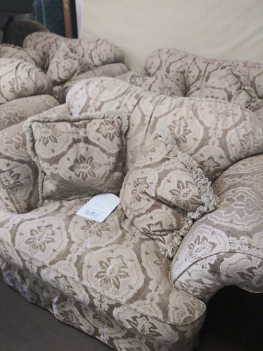 4 Large Gorgeous Tan and Gold Arm Chairs