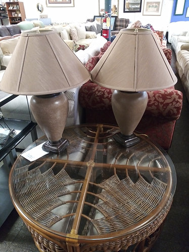 Glass Top Coffee Table with nesting stools