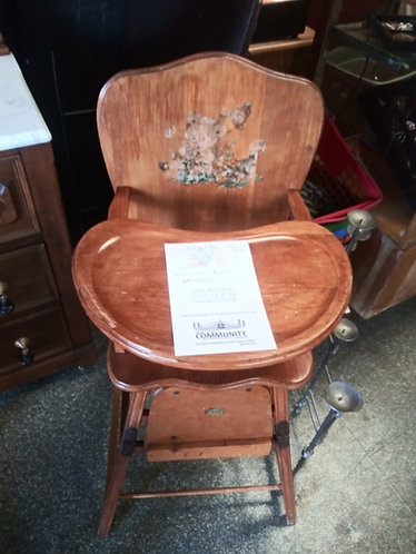 Rare Antique High Chair/Stroller Combo