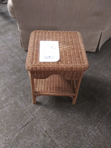 nice wicker end table