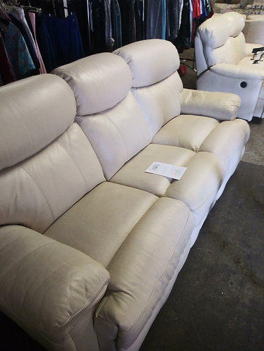 Really Nice Electric Reclining Leather Sofa and Matching Loveseat