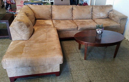 Super clean, comfortable, and like new microfiber L-shaped sectional