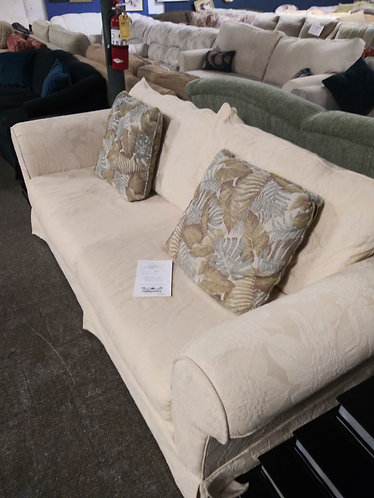 Affordable and comfortable patterned sofa