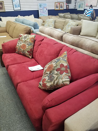 beautiful fabric red couch