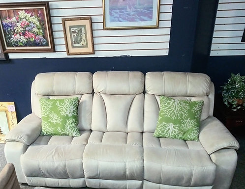 Very comfortable and clean leather/microfiber reclining sofa