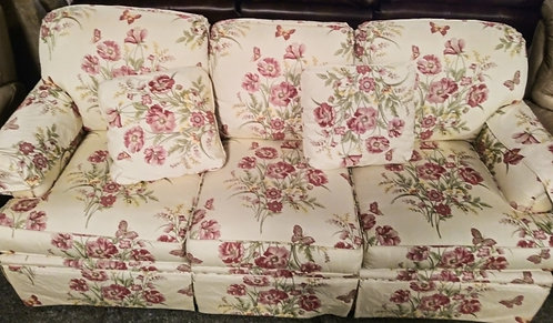 Vibrant floral sofa that really pops!