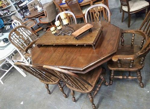 nice wood table 6 chairs