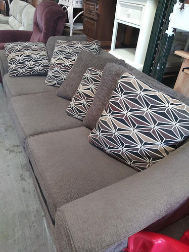 beautiful  grey fabric couch