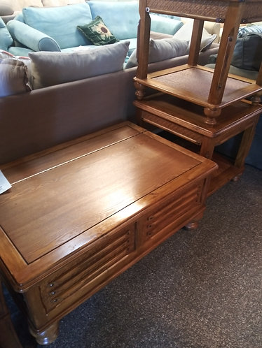 Beautiful Wood Coffee Table with Storage and 2 Matching End Tables