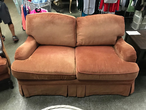 Orange Havertys Love Seat
