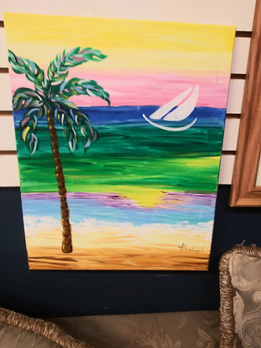 Colorful Beach Painting
