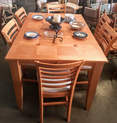 amazing solid wood dining table with 6 chairs