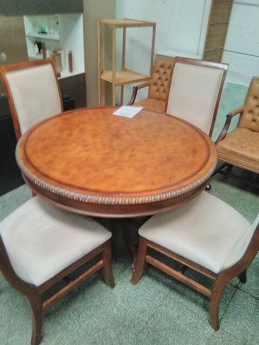 One of a Kind Table with 4 Chairs