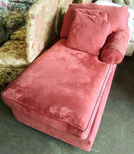 Comfortable and clean red microfiber chaise lounge