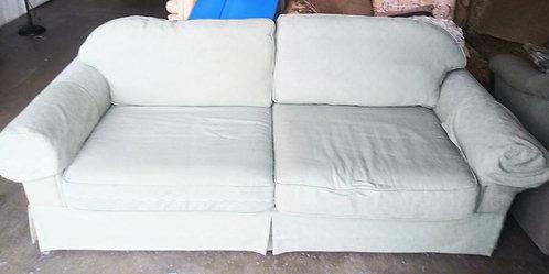 Comfortable subtle green sleeper sofa