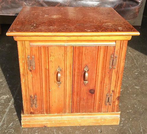 Hand crafted solid wood antique end table