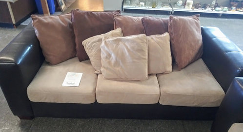 Like new Kevin Charles microfiber and leatherette sofa and love seat!