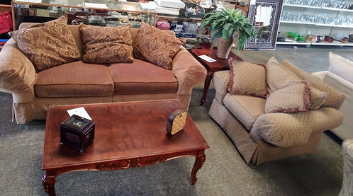 High quality sofa and matching accent arm chair