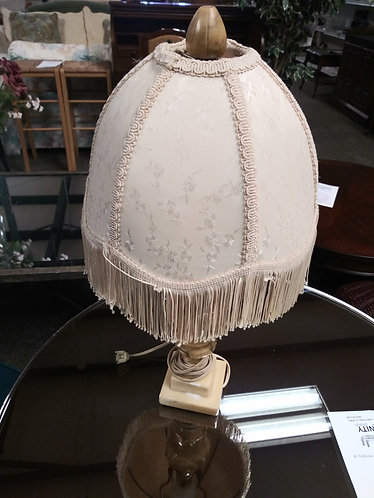 Small Lamp with a Beautiful Shade