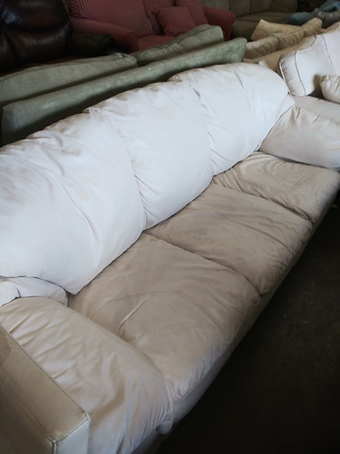 Very Comfortable White Leather Sofa