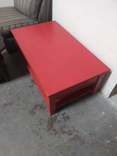 Solid Wood Red Coffee Table