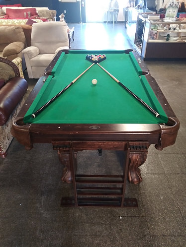 Amazing wood billiards table