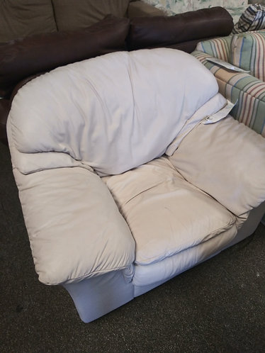 Cream Colored Leather Chair