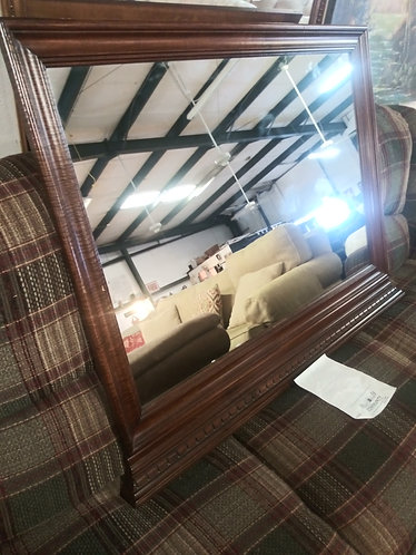 Mirror with Beautiful Dark Wood Frame
