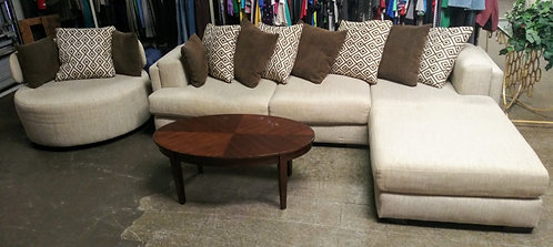 Gorgeous high quality sectional and swivel chair