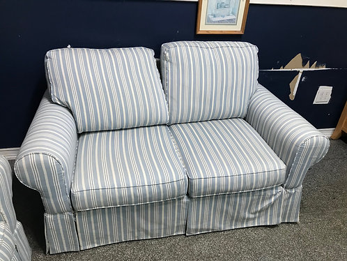 Striped couch and Love Seat