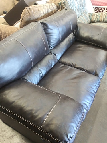 Awesome Dark Brown Leather Loveseat