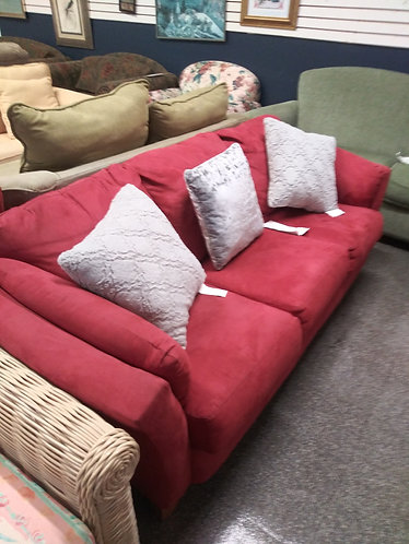 Modern and Comfortable Red Sofa