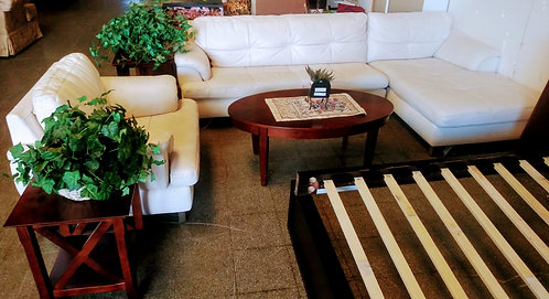 Super clean modern style sectional with matching arm chair