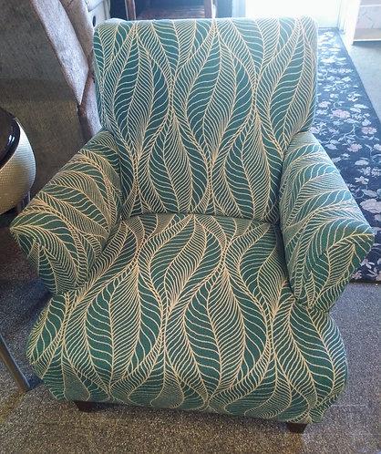 Gorgeous aqua colored accent chair