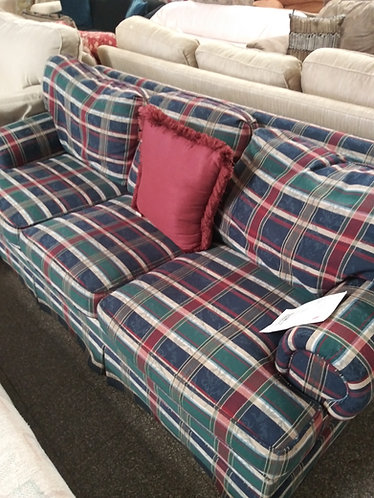 Retro Style Plaid Couch