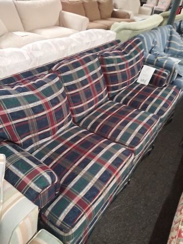 Multi Colored Plaid Couch