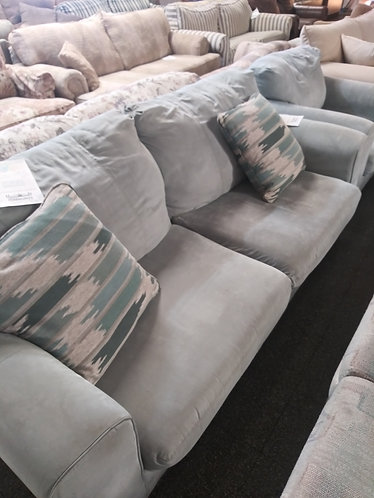 Aqua Loveseat and Matching Chair