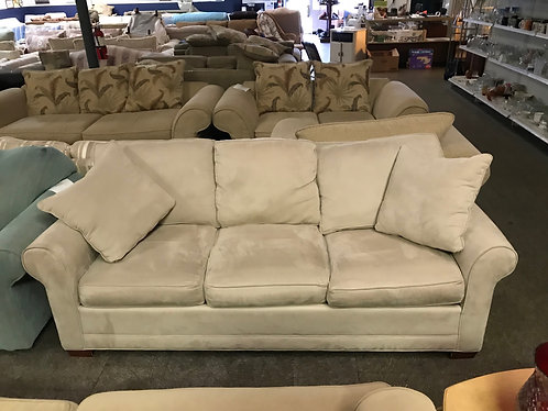Tan Microfiber Couch