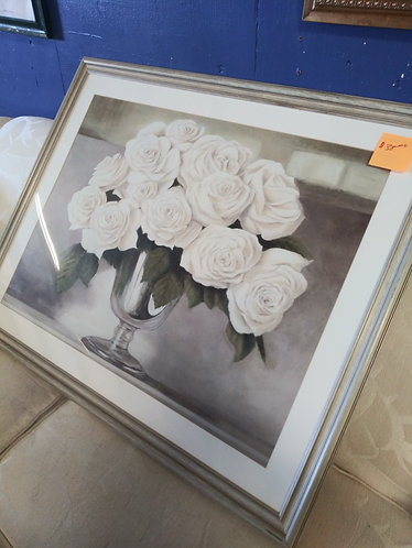 Beautiful White Rose Painting