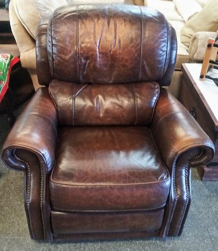 100% genuine leather rocker recliner
