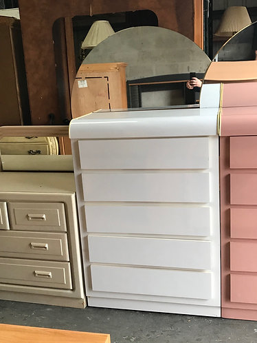 White Dresser, Chest, and 2 Nightstands