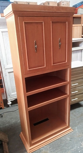 Beautiful solid wood T.V. cabinet with storage!