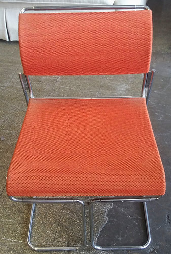 Retro style orange office chair