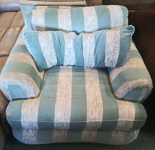 Comfortable and clean large striped arm chair