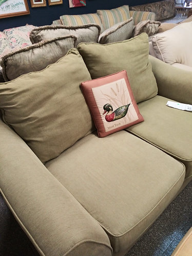 beautiful green fabric couch